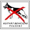 Kutyát behozni tilos! 8x8cm...