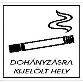 Dohányzásra kijelölt hely...