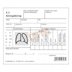 Nyomtatvány röntgen lelet...